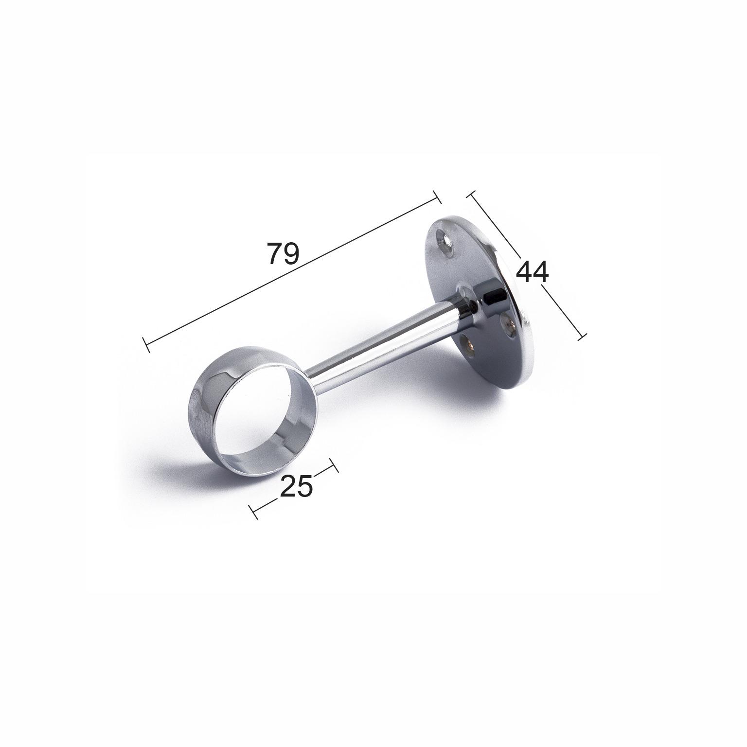 Nya RÖRHÅLLARE 759 ÖPPEN 25MM KROM | Beijer Byggmaterial CJ-49